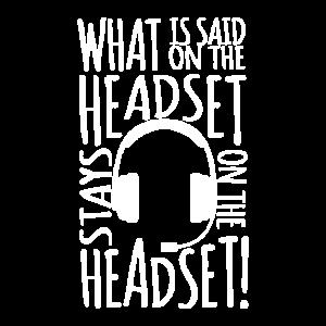 Was wird auf dem Headset-Theater gesagt?