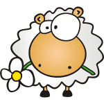 Glückwunsch Blumen Schaf