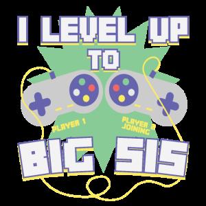 Level Up Gamer Zocker Gaming Schwester Geschenk