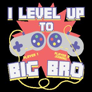 Level Up Gamer Zocker Gaming Bruder Baby Geschenk