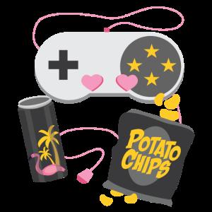 Gamer Girl Gaming Zocker Kontroller Nerd Geschenk