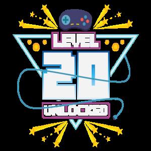 Level Up Gamer Zocker Gaming 20er Nerd Geschenk