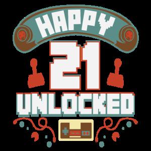 Level Up Gamer Zocker Gaming 21er Retro Geschenk