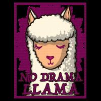 No drama llama Damen Geschenk Shirt