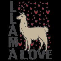 Love Lama Damen Geschenk T-Shirt