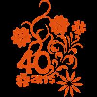 40 Jahrestag Blume