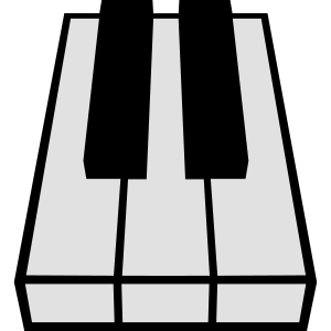 Perspective Piano Keys Design
