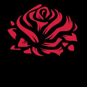 Eine Rose als Graffiti