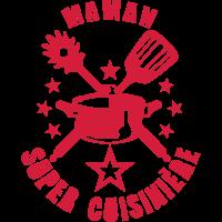 super mom utensil Logo