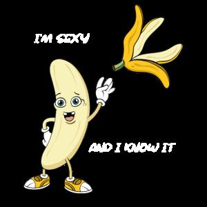 Witziges Bananen Striptease T-Shirt Geschenk