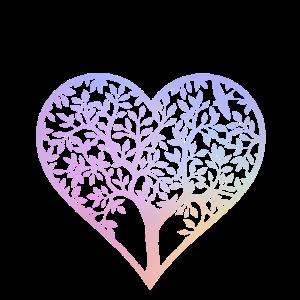 Baum Herzform Frühlingsgefühle