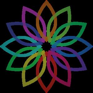 Blume bunt Blumenranke farbig Flora Geschenk Idee