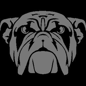 Bulldogge Hundekopf Tier wild 7012