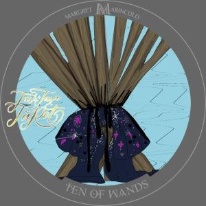 Ten of Wands | Zehn der Stäbe Tarot Karte