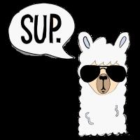 Lustiges Alpaka Alpaca Lama Llama mit Sonnebrille