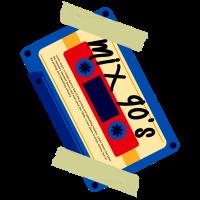 90er Jahre Casette mischen