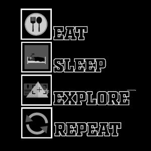 Eat Sleep EXPLORE Repeat VR