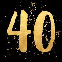 40 gold runder Geburtstag vierzig