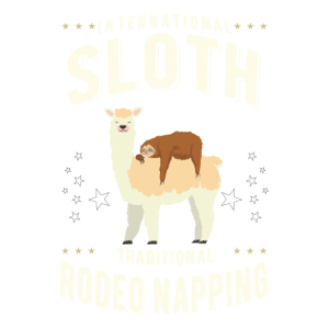 Sloth Rodeo Napping Faultier Lama Faul