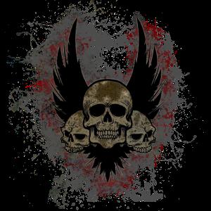 Totenkopf Tod Paint Splatter Art