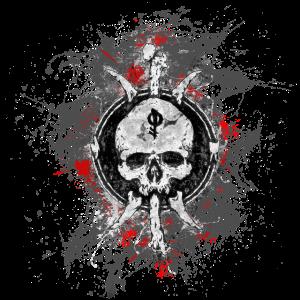 Gothic Tod Totenkopf Paint Splatter Art