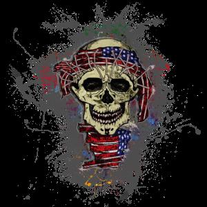 USA Tod Totenkopf Paint Splatter Art