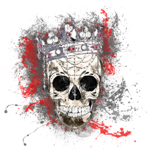 King Skull Totenkopf Paint Splatter Art