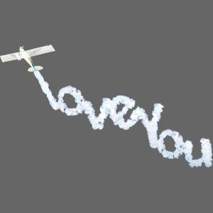 I love you vliegtuig