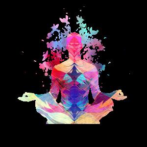 Yoga Frau - Schneidersitz