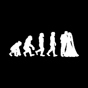 Affe Mann Frau Ring Trauung Geschenk Evolution