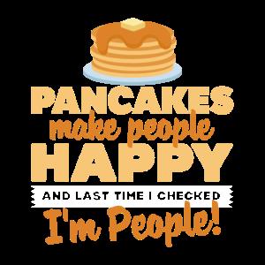Pfannkuchen machen Menschen glücklich