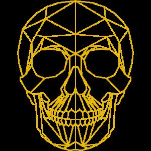 Cooles Totenkopf Polygon 3d Mosaik Design Geschenk