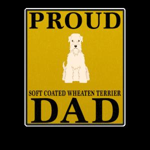 Stolzer weicher beschichteter Wheaten Terrier-Vati