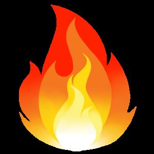 Feuer und Flamme Cartoon