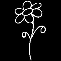 Wunderblume Linie Weiss