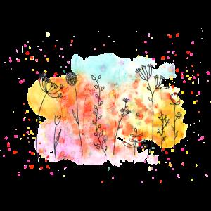Blumen-Wiese Wasserfarben | Frühling & Sommer