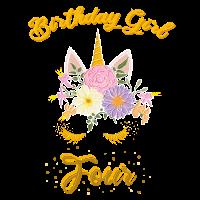 Geburtstag 4 Jahre Einhorn, Unicorn T-Shirt Vier