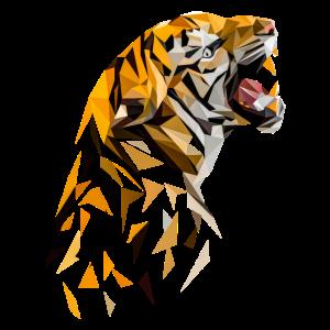 Tiger Polygon Kunst