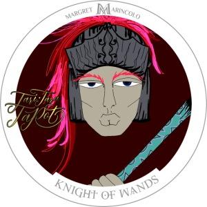 Knight of Wands   Ritter der Stäbe Tarot Karte