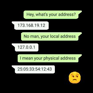 Computer Nerd Geek Chat IP Adresse witzig Geschenk