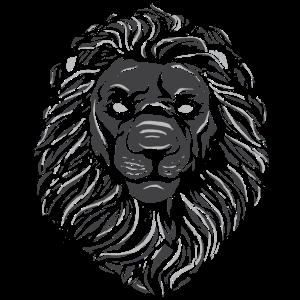 Löwe Kopf Majestätisch Elegant