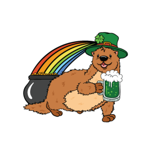 St Patricks Day Drinks Well With Otters Geschenk
