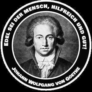 Goethe Zitat Spruch Klassik Edel hilfreich und gut