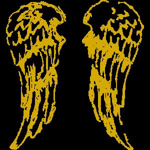 Engelsflügel, Flügel gold