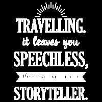 Reisen Reisender Geschenk Spruch Weisheit