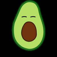 Avocado Doodle Daumen Hoch