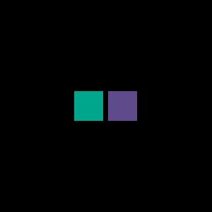 Türkis-Violett-Farbwerte in vier Farbräumen
