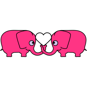 Love Elephant Couple