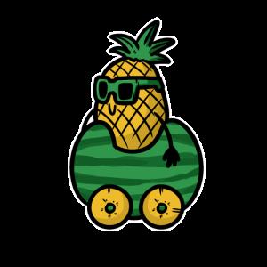 Sommer Ananas Frucht