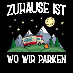Witziges Camping Wohnmobil Berge Wildnis Geschenk